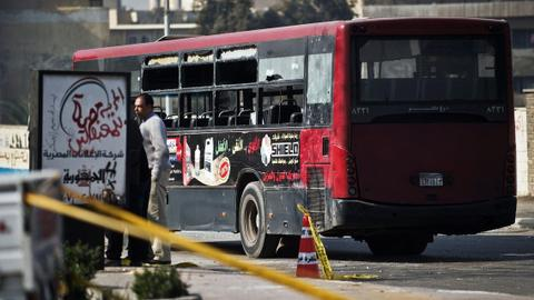 Bus accident in southern Egypt claims more than a dozen of lives