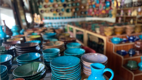 In Pictures: How Afghanistan's turquoise pottery sprung back to life