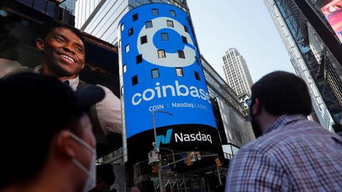 Coinbase makes dramatic stock market debut