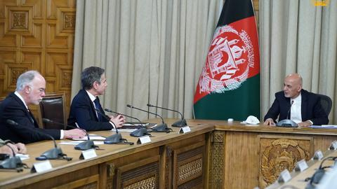 Blinken meets Ghani to discuss US troop withdrawal from Afghanistan