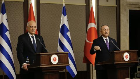 Sparks fly at Turkish and Greek ministers' press conference