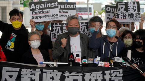 Five prominent Hong Kong activists sentenced up to 18 months in jail