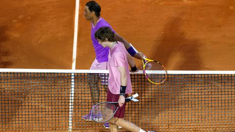 Andrey Rublev beats Rafael Nadal in Monte Carlo quarter finals