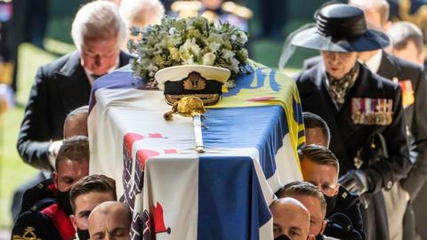 Britain's Prince Philip laid to rest in ceremonial funeral