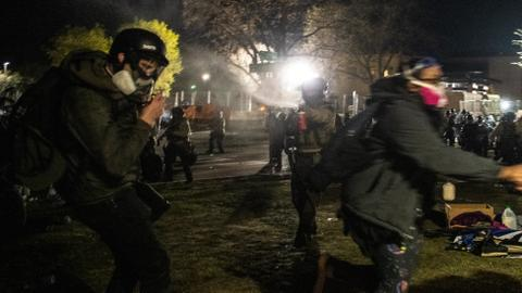 Police detain, pepper-spray journalists covering Minnesota protests