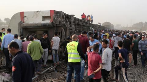 Several dead, dozens injured as passenger train derails in Egypt