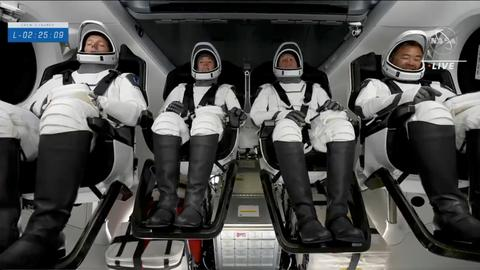 SpaceX sends 4 NASA astronauts to ISS on Falcon 9 rocket