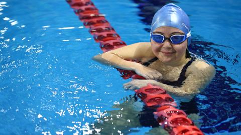 Irem Oztekin, Turkey's first lifeguard with Down syndrome