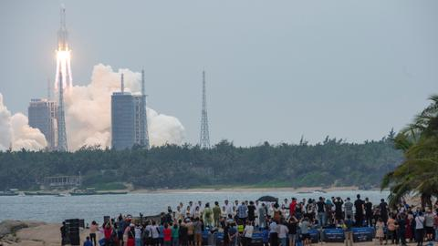 China's rocket out of control but debris unlikely to cause any harm