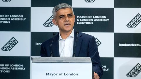 Labour's Sadiq Khan wins second term as London mayor