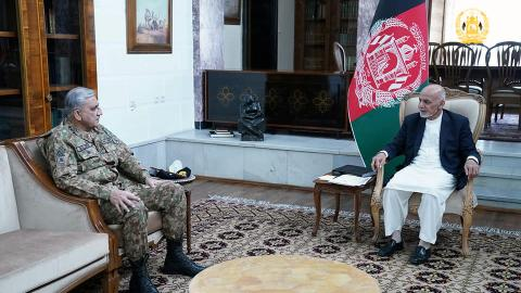 Pakistan army chief repeats support for Afghan peace ahead of Eid truce