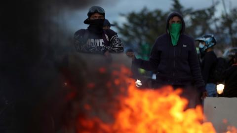 No headway in first talks between Colombian protesters, government