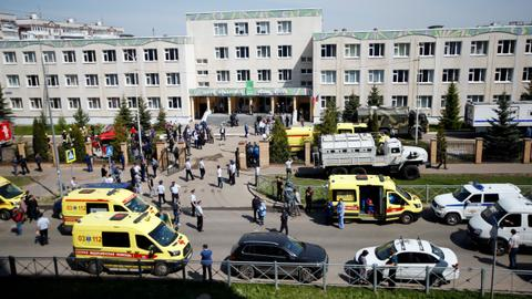 Several children killed in school shooting in Russia's Kazan