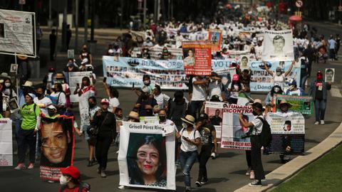 Mexican mothers march for their missing kids amid war against drug cartels