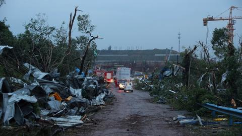 Several dead after tornadoes sweep across parts of China