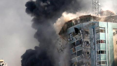 Media outlets seek explanation after Israeli strike hits offices in Gaza