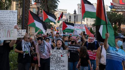Tens of thousands protest across North America in solidarity with Palestine