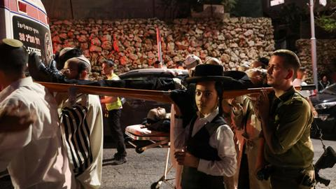 Scores of Israelis hurt in bleacher collapse at West Bank synagogue