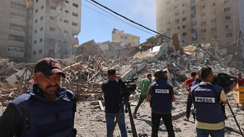 ICC urged to probe Israeli bombing of media offices in Gaza