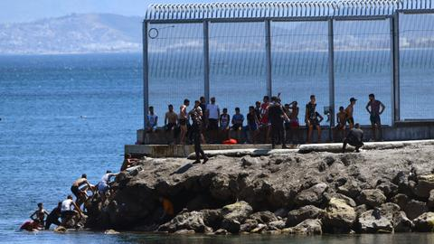 Record number of migrants reach Spain's Ceuta enclave in one day