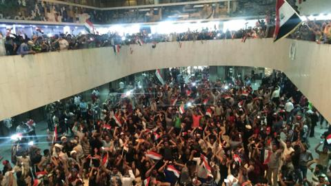 Iraqi protesters storm Green Zone, enter parliament building