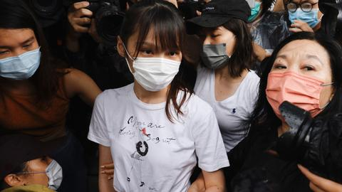 Anti-Beijing activist Agnes Chow freed from Hong Kong prison