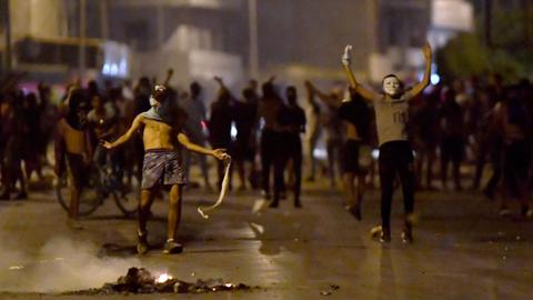 Clashes in Tunisia as youths come out to protest against police violence