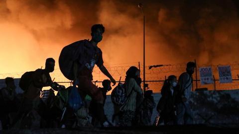 Greek court jails four Afghan asylum seekers over Moria fire
