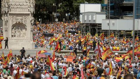 Mass protest in Madrid over likely pardons for jailed Catalan leaders