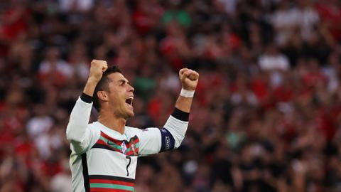Record-breaking Ronaldo strikes twice as Portugal sink Hungary at Euro 2020