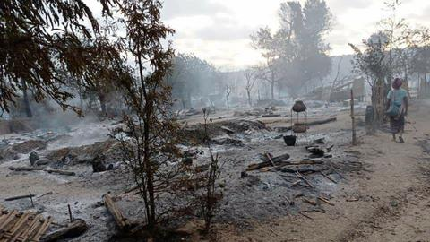 Myanmar residents accuse security forces of burning down village