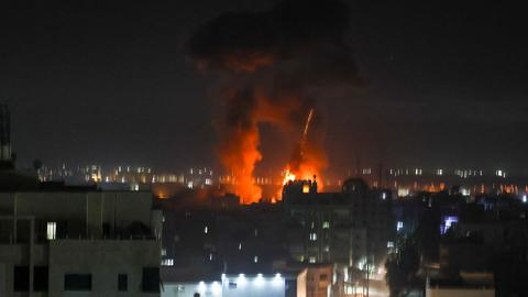 Israel says more 'arson balloons' launched after it bombed Gaza