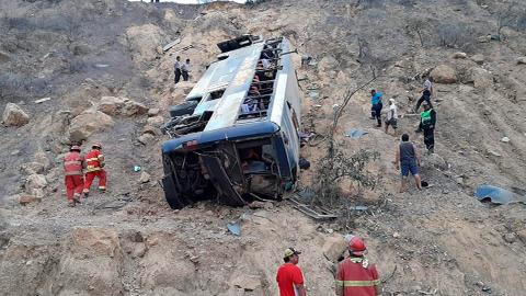 Several miners killed in Peru bus accident