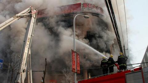 Fire kills eleven in eastern China