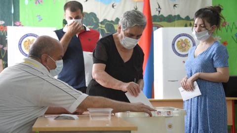 Armenia votes in parliamentary election called after war defeat
