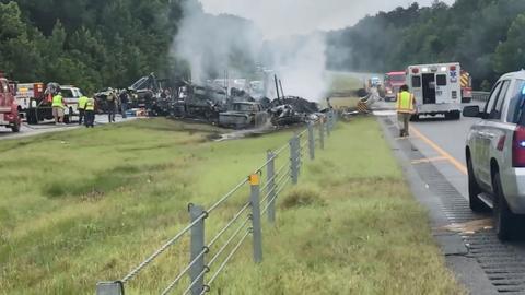 Storm Claudette kills over dozen including eight kids in van crash