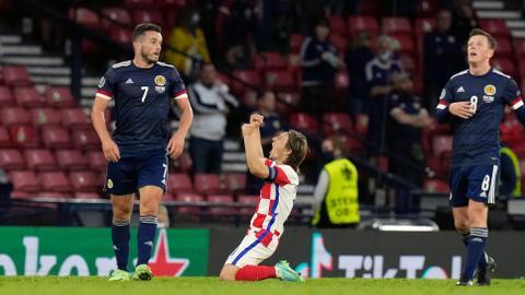 Croatia beat Scotland to advance at Euro 2020 with Modric leading the way