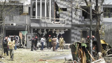 Deadly Lahore bombing strikes near militant leader's residence