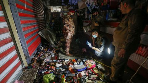 Deadly suicide bomb attack targets busy market in Iraq's capital