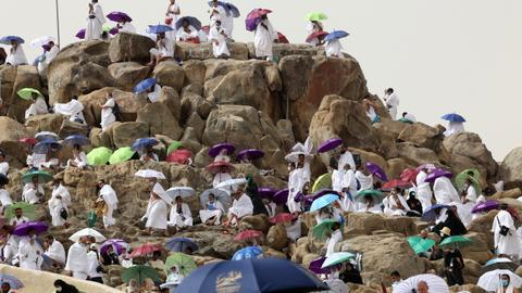 Pilgrims ascend Mount Arafat in high point of this year's Hajj