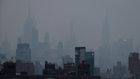 Massive wildfires in US West send haze of smoke across East Coast