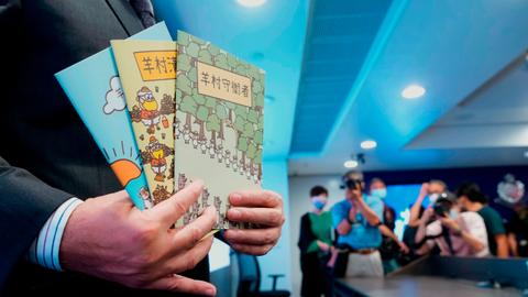 In Hong Kong, children's tales of sheep and wolves seen as seditious