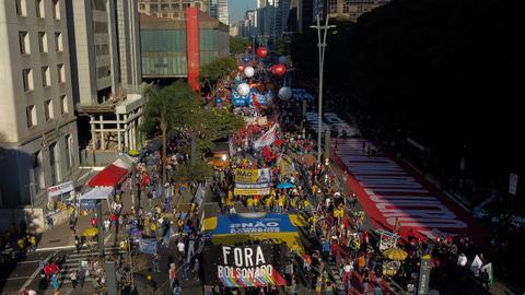 Protesters back on Brazil streets to demand Bolsonaro's impeachment