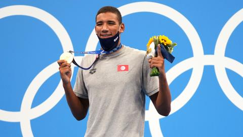Tunisian teen stuns swimming superpowers with Olympic gold