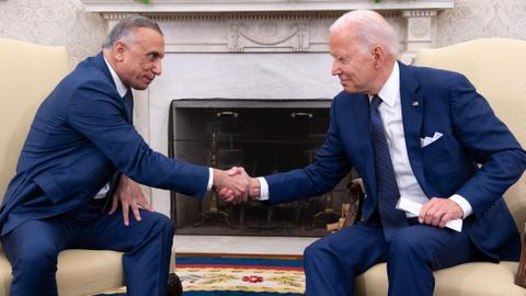 Biden, Kadhimi sign deal to end US 'combat operations' in Iraq
