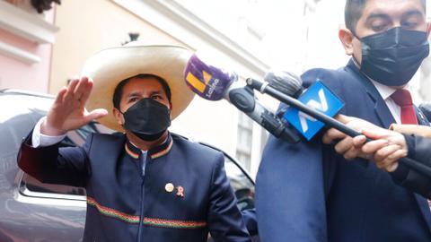 Pedro Castillo sworn in as Peru's president