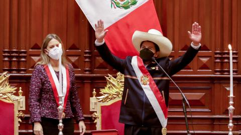 Peru's new president vows to end corruption and change constitution