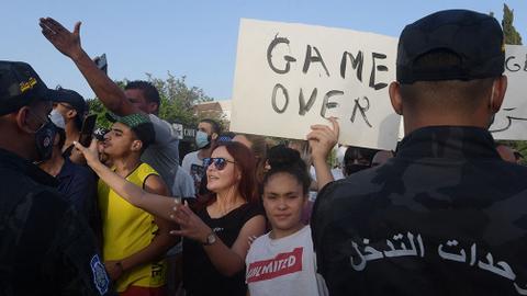 Tunisia's political crisis deepens as president makes a judicial power grab