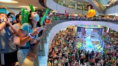 Hong Kong police probe China anthem booing at Olympic screening