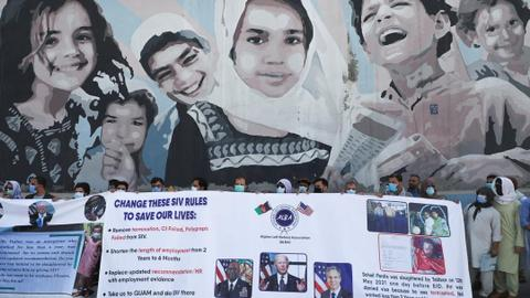 First flight carrying Afghans fleeing possible Taliban reprisal lands in US